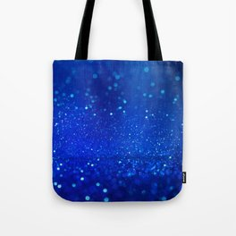 Abstract blue bokeh light background Tote Bag