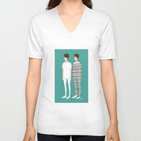 tegan and sara V-neck T-shirts featuring Tegan and Sara: Call It Off by Cas.