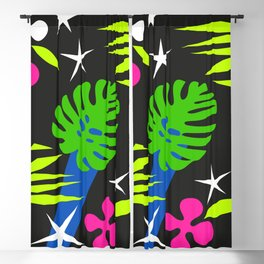 Matisse inspired seamless pattern Blackout Curtain