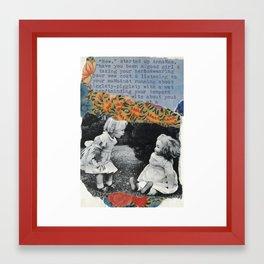 Anna Mae, have you been a good girl? Framed Art Print
