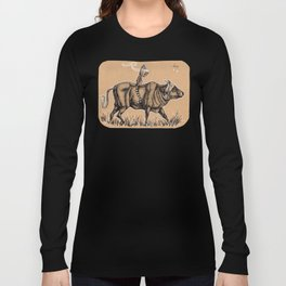 Teatime with waterbuffalo and genet Long Sleeve T-shirt