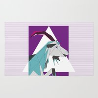 goat Area & Throw Rugs featuring Goat by Sudário