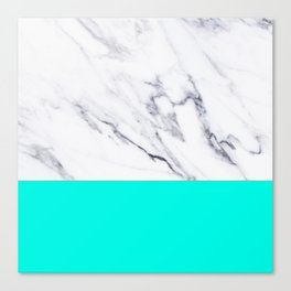 Marble Blue Luxury iPhone Case and Throw Pillow Design Canvas Print