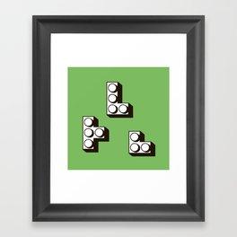 Tetromino Framed Art Print