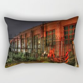 Train Laundry Building Rectangular Pillow