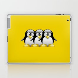 Linux Tux penguins friends Laptop & iPad Skin