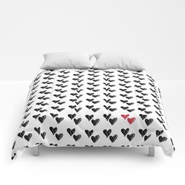 HEARTS ALL OVER PATTERN VI Comforters