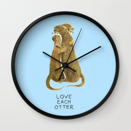 Love each otter Wall Clock