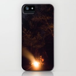 Night by campfire iPhone Case