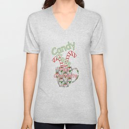 Candy Cane Hot Chocolate Unisex V-Neck