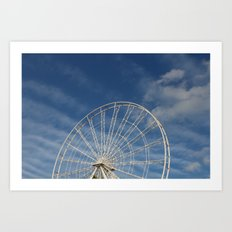 End of the Ferris Wheel Art Print