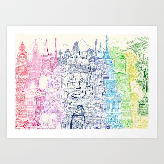 Angkor Wat & Thailand Art Print