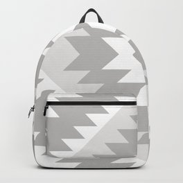 Tangiers Kilim in Grey and Whtie Backpack
