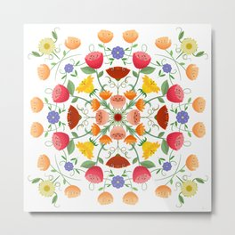 A Symphony Of Floral Delights Metal Print