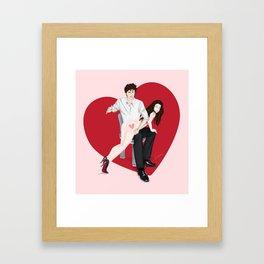 spanky panky (pink) Framed Art Print