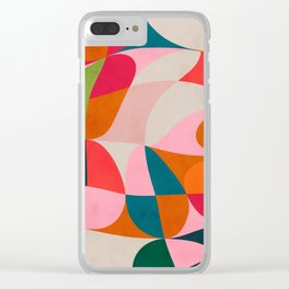 shapes spring colors Clear iPhone Case
