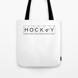Periodic Table Hockey Elements Funny Gift Idea Tote Bag
