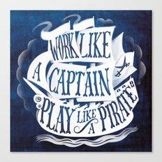 like a pirate Canvas Print