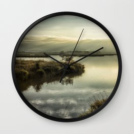 Rays Over Fern Ridge Wall Clock