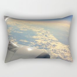 Sun And Clouds From Plane Rectangular Pillow