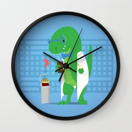 Dinosaur Scientist Wall Clock