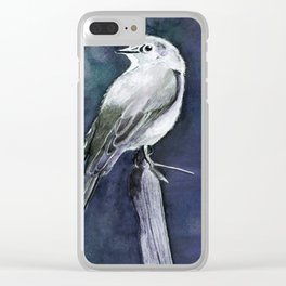 Townsend's Solitaire (blue shade) Clear iPhone Case