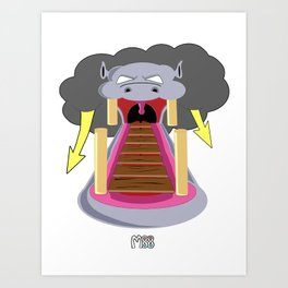 The Hippo's Not So Tempting Offer Art Print