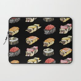 Sushi Pug Watercolor Laptop Sleeve