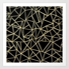 Ab Gold and Silver Art Print