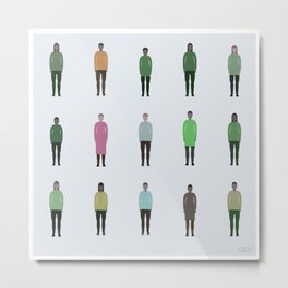 Humans #375,453,139 Metal Print