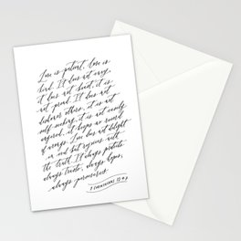 Love is Patient Love is Kind - 1 Corinthians 13 Stationery Cards