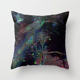 Psychedelic Forest.... Throw Pillow