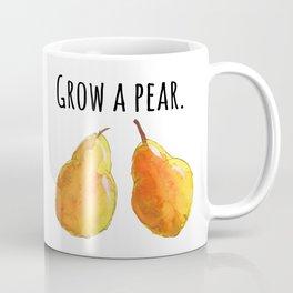 Grow a pear // Golden pears // Pear artwork // Pear kitchen decor // food pun Coffee Mug