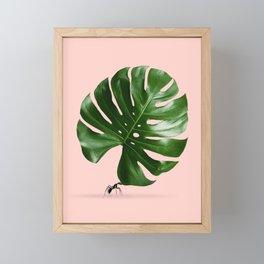 MONSTERA ANT Framed Mini Art Print