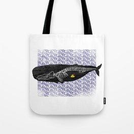 Whale anatomy Tote Bag