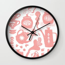 Morning ritual textured print pattern Wall Clock