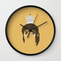 2001 Wall Clocks featuring Chihiro, 2001 by Jarvis Glasses