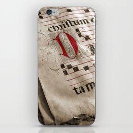 Medieval Choir Book iPhone Skin