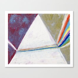 Rainbow prism triangle Canvas Print
