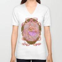 rapunzel V-neck T-shirts featuring Rapunzel  by Joopis