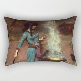 The Magic Circle John William Waterhouse Painting Rectangular Pillow