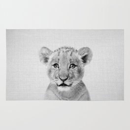 Baby Lion - Black & White Rug