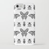 insects iPhone & iPod Cases featuring insects by Textile Candy