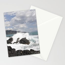 The Power of Sea on the Isle of Sicily Stationery Cards