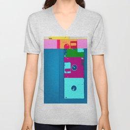 Databent floppy disks Unisex V-Neck
