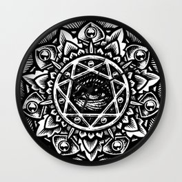 Eye of God Flower Wall Clock