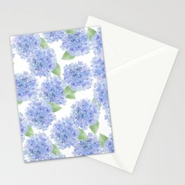 Elegant lavender lilac watercolor hydrangea floral Stationery Cards
