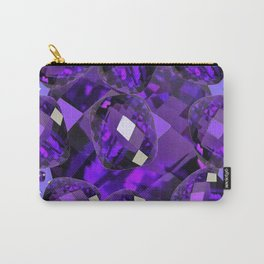 PURPLE AMETHYST FACETED  JEWEL GEMS BIRTHSTONE Carry-All Pouch