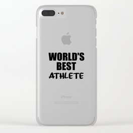worlds best athlete sayings and logos Clear iPhone Case