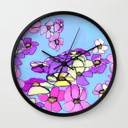 Lavender Spring Wall Clock